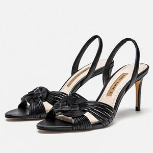 ZARA Basic Black Heeled Sandals